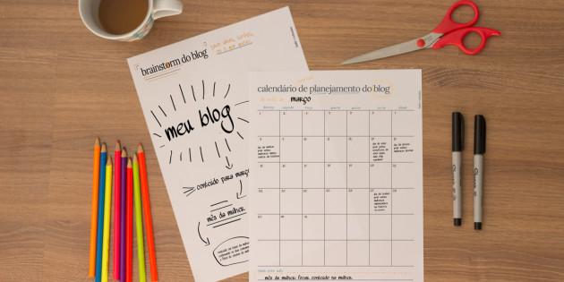 Brainstorm do Blog + Calendário Editorial